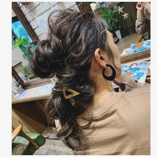 大人ハイライト ハイライト コントラストハイライト ヘアアレンジ ヘアスタイルや髪型の写真・画像
