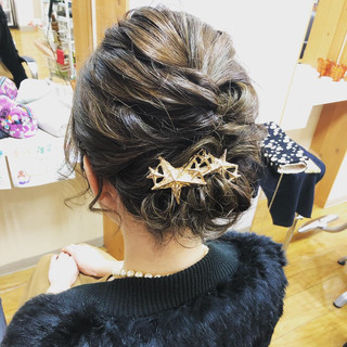 ヘアアレンジ 簡単ヘアアレンジ 結婚式 ボブ ヘアスタイルや髪型の写真・画像 ヘアスタイルや髪型の写真・画像