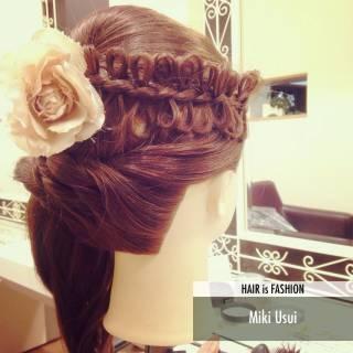 ゆるふわ ヘアアレンジ 三つ編み ナチュラル ヘアスタイルや髪型の写真・画像 ヘアスタイルや髪型の写真・画像