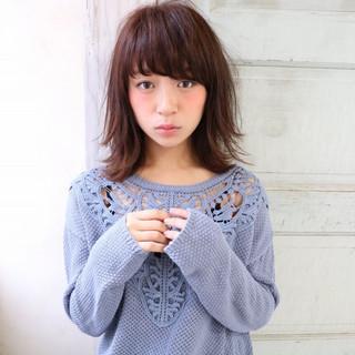 ピュア 秋 ミディアム 大人かわいい ヘアスタイルや髪型の写真・画像
