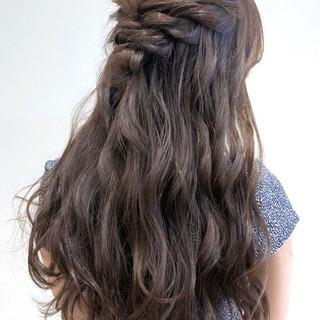 結婚式 簡単ヘアアレンジ ハーフアップ ヘアアレンジ ヘアスタイルや髪型の写真・画像