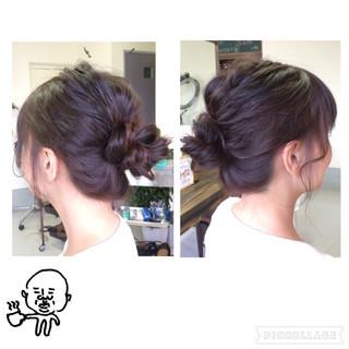 簡単ヘアアレンジ ルーズ ヘアアレンジ ショート ヘアスタイルや髪型の写真・画像 ヘアスタイルや髪型の写真・画像