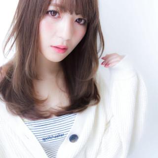 前髪 ストレート トリートメント 透明感カラー ヘアスタイルや髪型の写真・画像