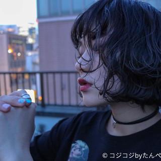 ウェットヘア ブルージュ ボブ 外国人風カラー ヘアスタイルや髪型の写真・画像