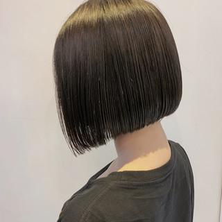 ミニボブ ボブ 黒髪 うる艶カラー ヘアスタイルや髪型の写真・画像