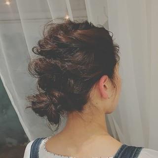 フェミニン アウトドア 大人かわいい ミディアム ヘアスタイルや髪型の写真・画像