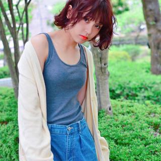 アウトドア ストリート デート 女子会 ヘアスタイルや髪型の写真・画像