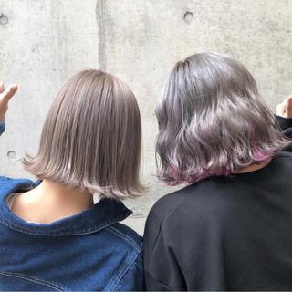 バレイヤージュ インナーカラー 外国人風カラー ストリート ヘアスタイルや髪型の写真・画像