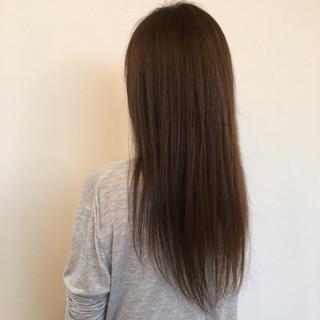 ナチュラル 透明感 ストレート 艶髪 ヘアスタイルや髪型の写真・画像