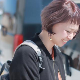 ヘアアレンジ ストリート ショート グラデーションカラー ヘアスタイルや髪型の写真・画像