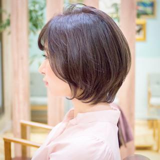ショートボブ ボブ ショートカット ヘアカラー ヘアスタイルや髪型の写真・画像