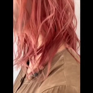 デート アウトドア ナチュラル ピンク ヘアスタイルや髪型の写真・画像 ヘアスタイルや髪型の写真・画像