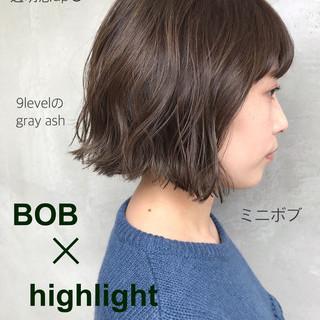 大人かわいい ボブ 外ハネ 大人女子 ヘアスタイルや髪型の写真・画像