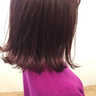 ストリート ピンク ボブ ミディアム ヘアスタイルや髪型の写真・画像