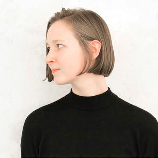 小顔 こなれ感 モード アッシュ ヘアスタイルや髪型の写真・画像