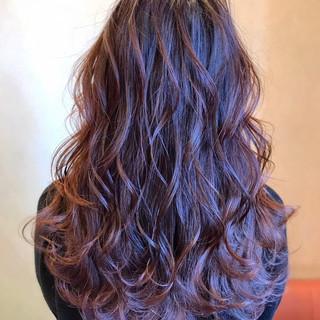 デート 波ウェーブ ヘアアレンジ ロング ヘアスタイルや髪型の写真・画像