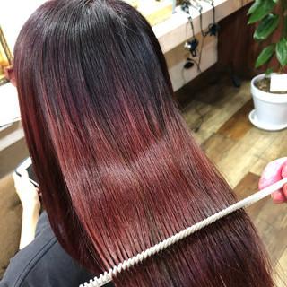 髪質改善カラー セミロング 髪質改善 美髪 ヘアスタイルや髪型の写真・画像
