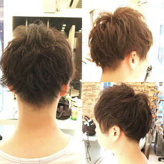 刈り上げ ストリート 黒髪 ショート ヘアスタイルや髪型の写真・画像