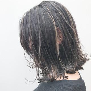ハイライト ミディアム 外ハネ コンサバ ヘアスタイルや髪型の写真・画像