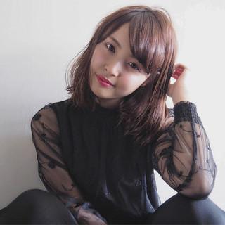 ミルクティー 大人女子 こなれ感 ミディアム ヘアスタイルや髪型の写真・画像