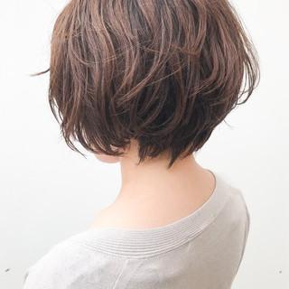 横顔美人 デート コンサバ ショート ヘアスタイルや髪型の写真・画像