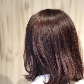 イルミナカラー ピンク ミディアム 艶髪 ヘアスタイルや髪型の写真・画像
