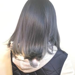 アッシュ ストリート ボブ ダブルカラー ヘアスタイルや髪型の写真・画像