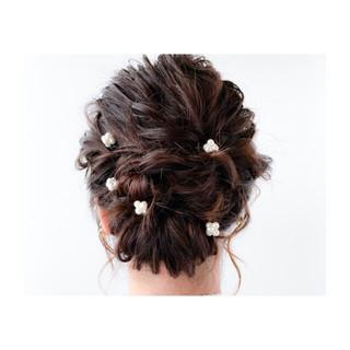 波ウェーブ 大人かわいい セミロング フェミニン ヘアスタイルや髪型の写真・画像