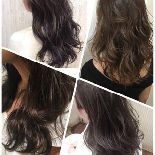 セミロング ストリート ブルージュ グレージュ ヘアスタイルや髪型の写真・画像