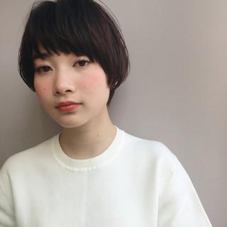 フリンジバング 大人女子 小顔 前髪あり ヘアスタイルや髪型の写真・画像