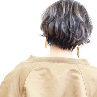 ストリート ショート ショートヘア バレイヤージュ ヘアスタイルや髪型の写真・画像