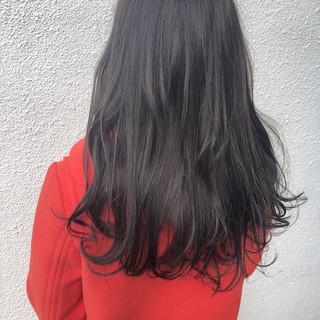 ヘアカラー 外国人風カラー セミロング ナチュラル ヘアスタイルや髪型の写真・画像