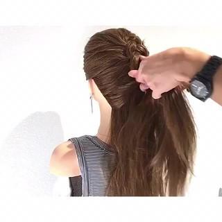 ロング アウトドア ヘアアレンジ 色気 ヘアスタイルや髪型の写真・画像