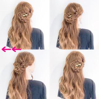ヘアアレンジ エレガント 簡単ヘアアレンジ 女子会 ヘアスタイルや髪型の写真・画像