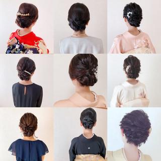 お呼ばれ 振袖ヘア アップスタイル エレガント ヘアスタイルや髪型の写真・画像