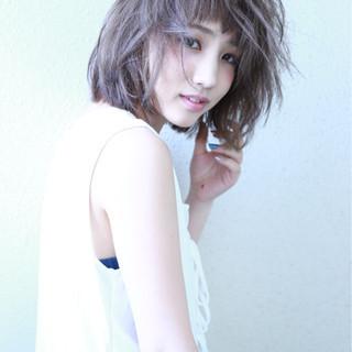 透明感 デジタルパーマ 色気 フェミニン ヘアスタイルや髪型の写真・画像