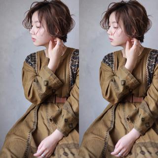 色気 ウェーブ ショート パーマ ヘアスタイルや髪型の写真・画像