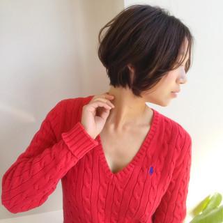 ピンクアッシュ ボブ ショート コンサバ ヘアスタイルや髪型の写真・画像