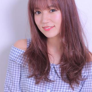ナチュラル 前髪あり 色気 かわいい ヘアスタイルや髪型の写真・画像