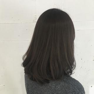 アッシュグレージュ ボブ 外国人風 ナチュラル ヘアスタイルや髪型の写真・画像
