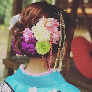 ヘアアレンジ ブライダル 成人式 福岡市 ヘアスタイルや髪型の写真・画像