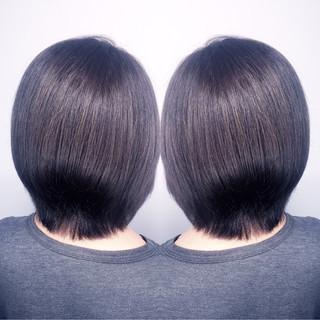 ショート 暗髪 ブルージュ アッシュ ヘアスタイルや髪型の写真・画像