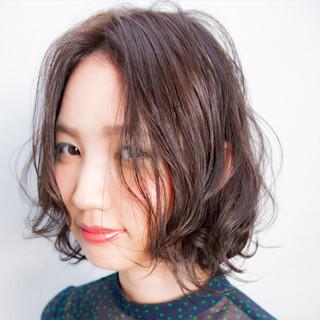 ゆるふわ 抜け感 ボブ フェミニン ヘアスタイルや髪型の写真・画像