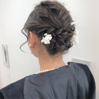 ヘアセット アンニュイほつれヘア ガーリー ヘアアレンジ ヘアスタイルや髪型の写真・画像