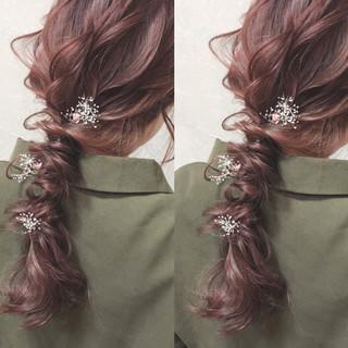 アンニュイほつれヘア 編み込み ナチュラル 大人かわいい ヘアスタイルや髪型の写真・画像 ヘアスタイルや髪型の写真・画像