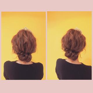 結婚式 シニヨン ナチュラル ヘアアレンジ ヘアスタイルや髪型の写真・画像 ヘアスタイルや髪型の写真・画像