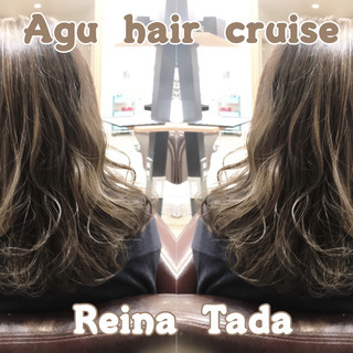 グレー 透明感 フェミニン ミディアム ヘアスタイルや髪型の写真・画像