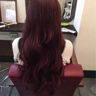 ロング ゆるふわ 大人かわいい ピンク ヘアスタイルや髪型の写真・画像