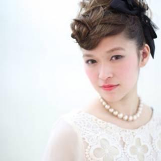 オン眉 編み込み ヘアアレンジ ナチュラル ヘアスタイルや髪型の写真・画像
