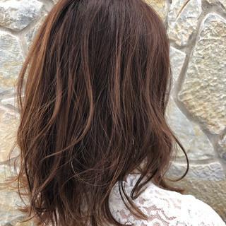 お手入れ簡単!! ミディアム ナチュラル可愛い ミディアムヘアー ヘアスタイルや髪型の写真・画像